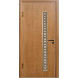 Межкомнатная дверь из вспененного ПВХ (со стеклом, миланский орех)