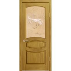 Межкомнатная шпонированная дверь «Изабелла Эстетика» (со стеклом)
