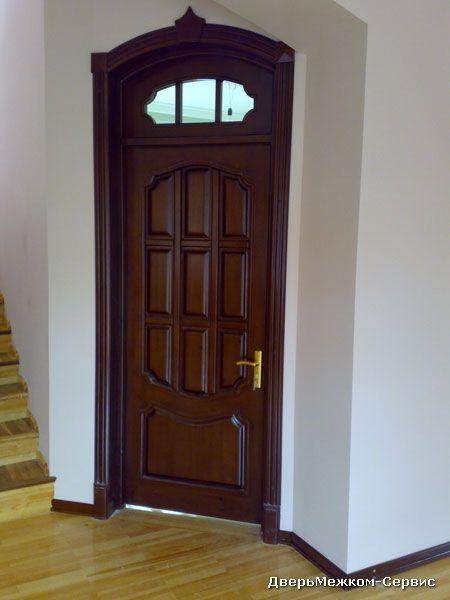 Дверь с арочной фрамугой