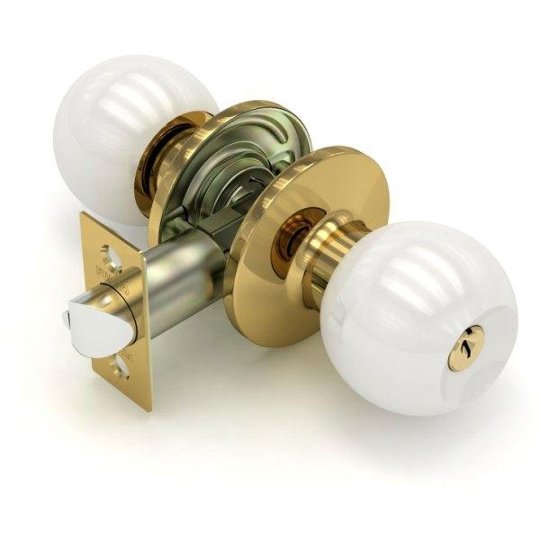Дверная ручка-кноб «672 E» (ключ/фиксатор)