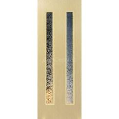 Межкомнатная шпонированная дверь «Молния-2» (со стеклом)
