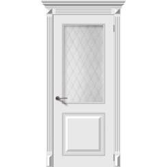 Дверь эмаль Багет 2, со стеклом