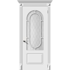 Дверь эмаль Менуэт, со стеклом