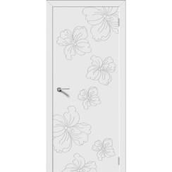Дверь эмаль Орхидея, глухая