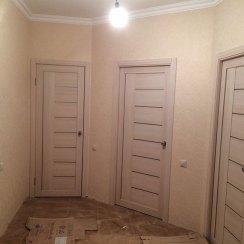 Межкомнатные двери экошпон, цвет капучино