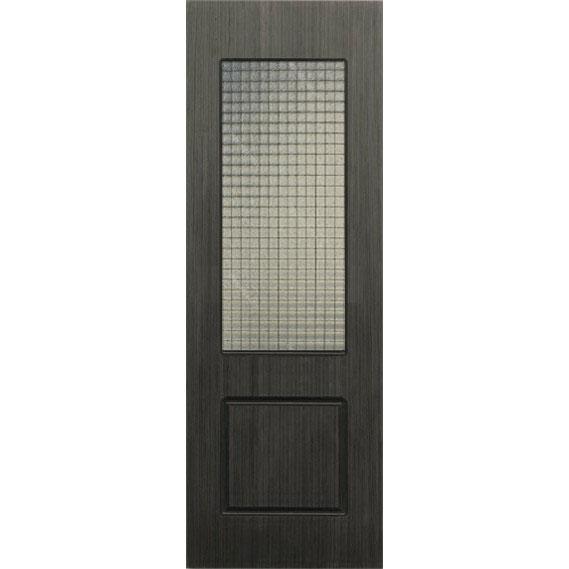 Строительная шпонированная дверь «Марсель» (серебристый дуб, со стеклом)