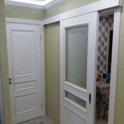 Межкомнатные белые двери (раздвижная и распашная)