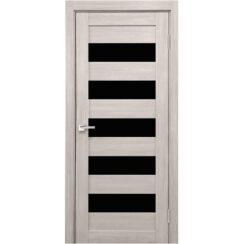 Межкомнатная дверь экошпон Х-4 лакобель чёрное