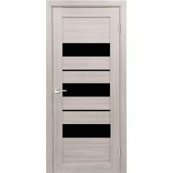 Межкомнатная дверь экошпон Х-7 лакобель чёрное