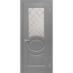 Межкомнатная дверь винил «Роял 1» (со стеклом)
