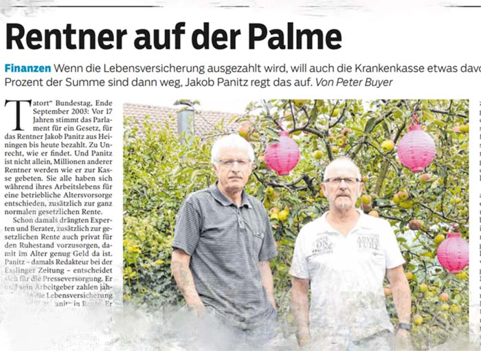 Rentner auf der Palme
