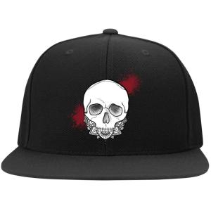 Exploding Skull Snap Back Cap