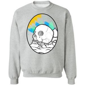 Skull Mountain Crewneck Pullover Sweatshirt
