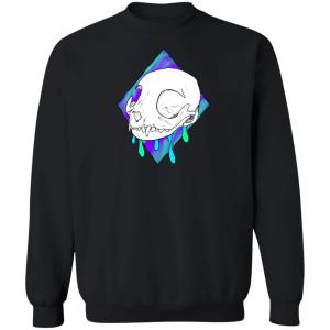 Dripping Cat Crewneck Pullover Sweatshirt