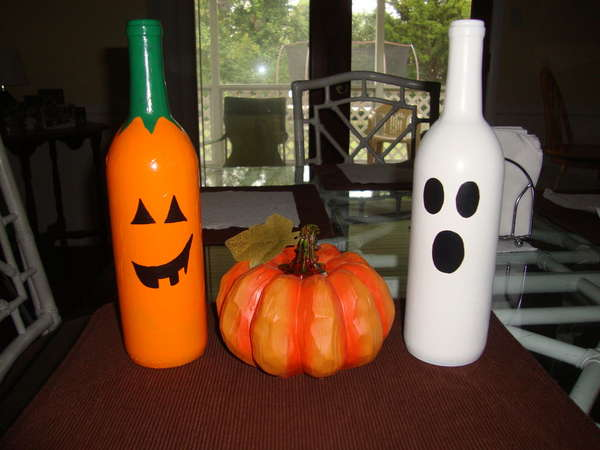 decoracion-halloween-2013-calabazas-frascos-con-botellas-fantasma
