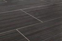 "Salerno Porcelain Tile - Raw Silk Series Black / 12""x24"""