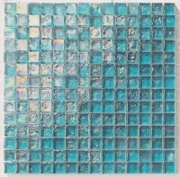 "Tiles and Deco TURQUOISE 1"" X 1"" GLASS MOSAIC - POOL GLASS ..."