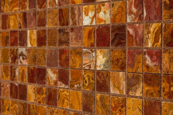 "Cabot Onyx Mosaic - Series Red 1""x1"" Polished"