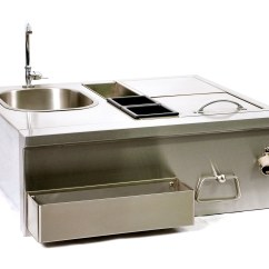 Outdoor Kitchen Sinks Compact Broilchef Stainless Steel Sink And Bar Single Bartender