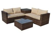 Kontiki Conversation Sets - Wicker Sofa Sets Zoe  4 Piece ...