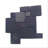 Roterra Slate Tile - Meshed Back Patterns Royal Black ...