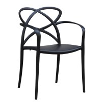 Fine Mod Imports Script Dining Chair, Black Dining Chair ...