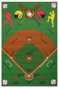 Fun Rugs Fun Time Fun Time Baseball Field Area Rug FT-122 ...