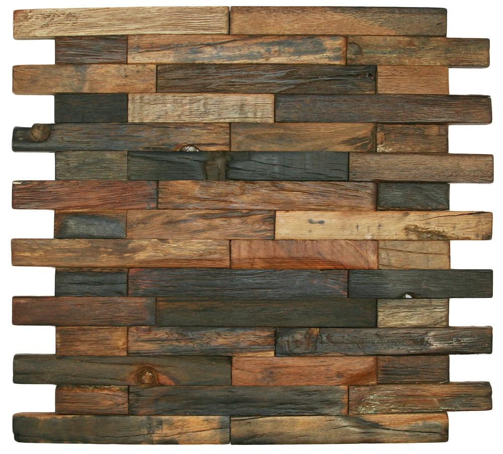 CNK Tile Pebble Tiles Reclaimed Boat Wood Tile
