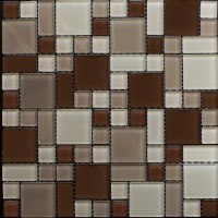 Newlinkz Glass mosaic Instant Mosaic - 1 sq.ft. - Peel'N ...