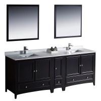 "Fresca Oxford 84"" Traditional Double Sink Bathroom Vanity ..."