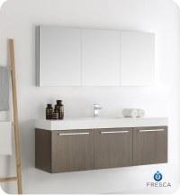 """Fresca Vista 60"""" Wall Hung Single Sink Modern Bathroom ..."""