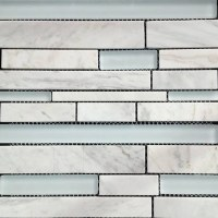 GL Stone & Tile Linear Pattern Stone and Glass Mosaic ...