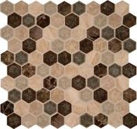 MS International Mosaic Tile - Keningston Hexagon 8mm ...
