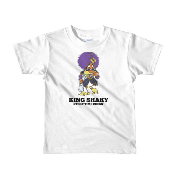877c40fe King Shaky - Short sleeve kids t-shirt - Fits Ages 2-6 - Story Time Chess