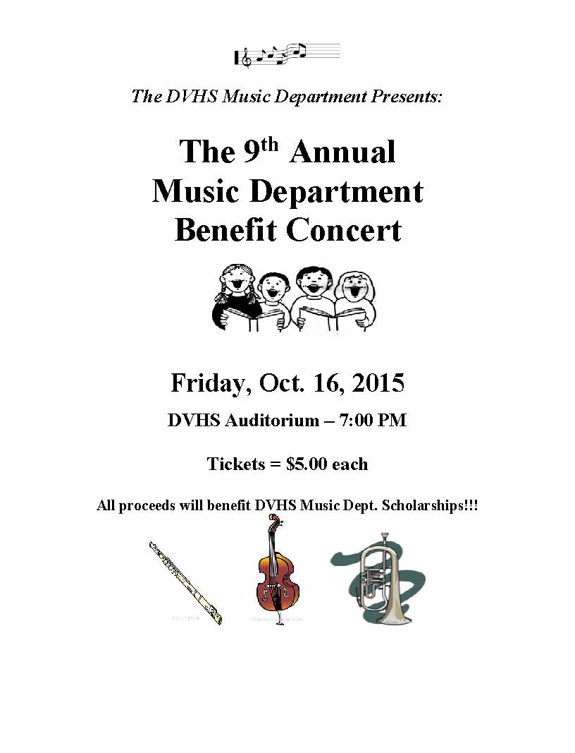 Volunteers and Donations Needed for 10/16 Benefit Concert