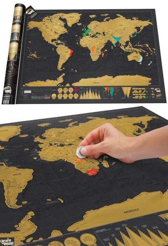 Carte Du Monde Grand Format : carte, monde, grand, format, Luckies, Scratch, Carte, Monde, Gratter, Édition, Deluxe, Très, Grand, Format
