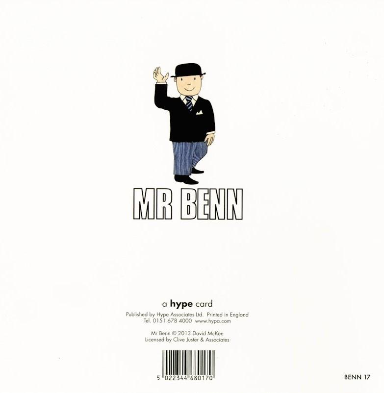 Greeting card featuring Mr Benn.