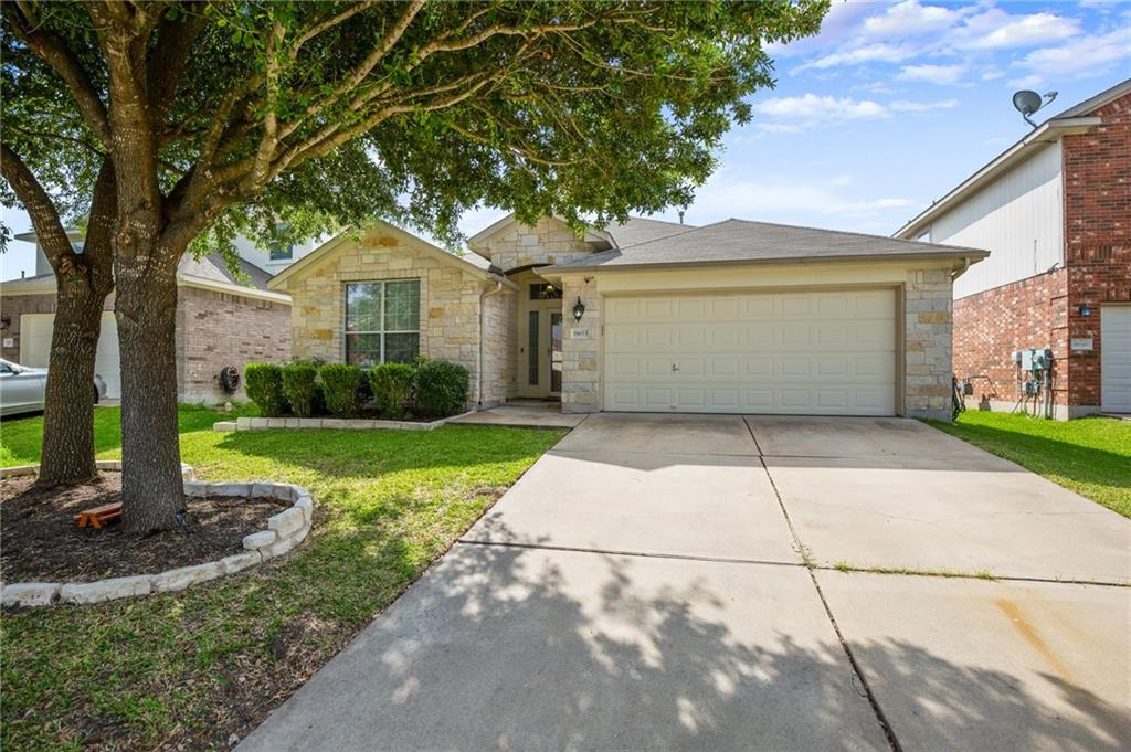 Great single story home in Villages of Hidden Lake. 4 beds/2 baths, 1,802 sqft. Awesome back yard space. No carpet. Hardwood and stained concrete in living areas. Hard tiling in wet area. Spacious, open kitchen includes upgraded counters, backsplash, stainless LG appliances, pendant and recessed lighting. Master bedroom tucked away from the other 3 rooms. The covered back patio extends out to the yard for a separate sitting area. Great community amenities. Walk to Lake Pflugerville!FEMA - Unknown Restrictions: Yes