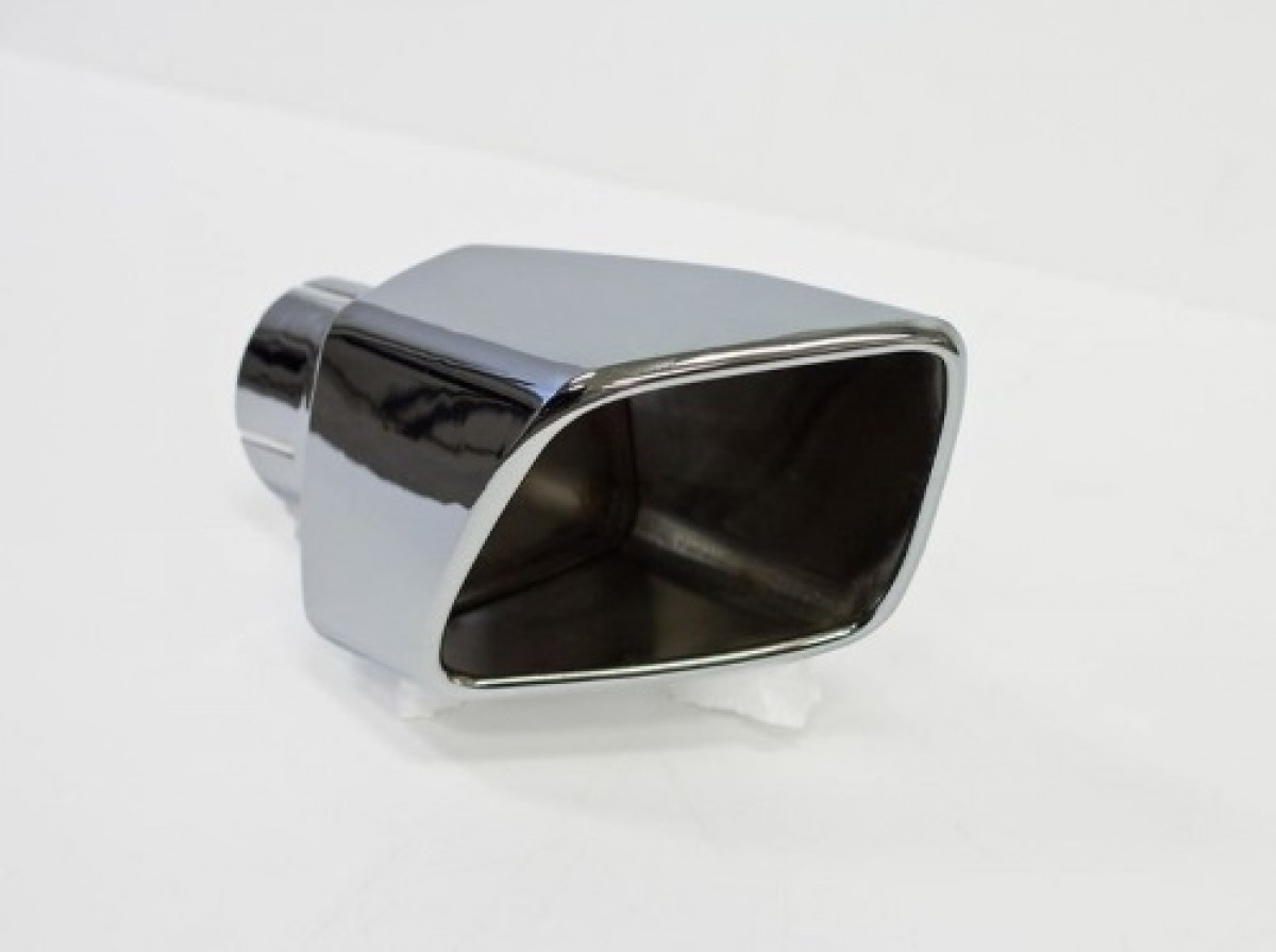 roush performance mustang exhaust tip left rear exit polished steel