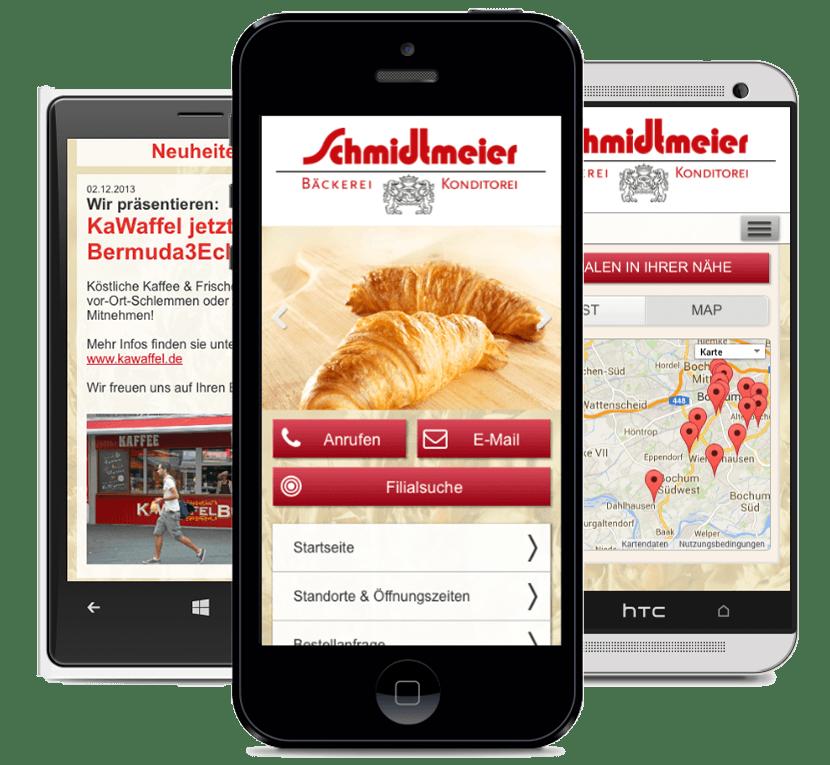 Schmidtmeier Bochum mobile Seite - Referenz digitalpiloten