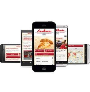 Schmditmeier Mobile Webseite