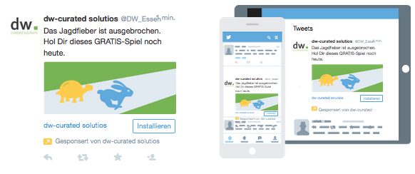 Twitter Ad: App-Installationen