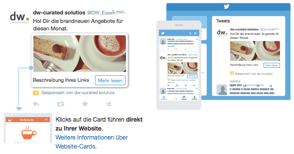 Twitter Ad: Websiteklicks & Conversions