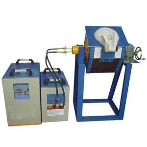 Tilting melting aluminum furnace