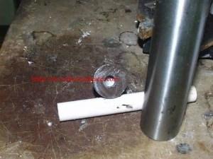 brazing carbide to shaft