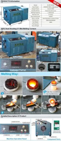 Small Melting Gold Furnace With Induction Manufacture In ...