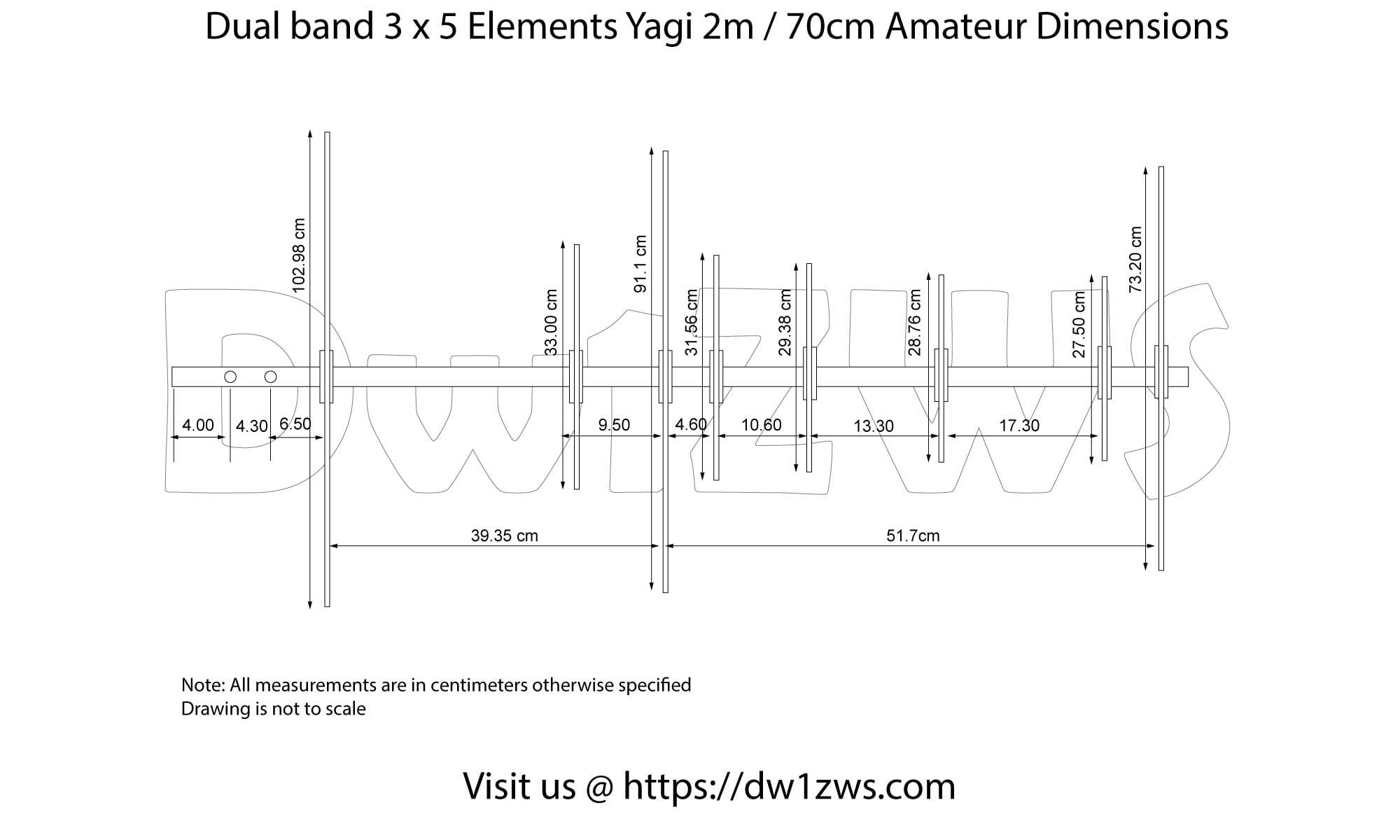 Build the 40 x 40 Elements 40m/40cm Dualband Yagi   DW40ZWS   Panda ...