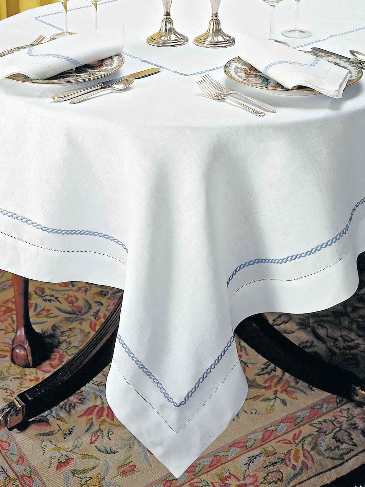 Sienne Scallops Too  Fine Table Linens  Schweitzer Linen
