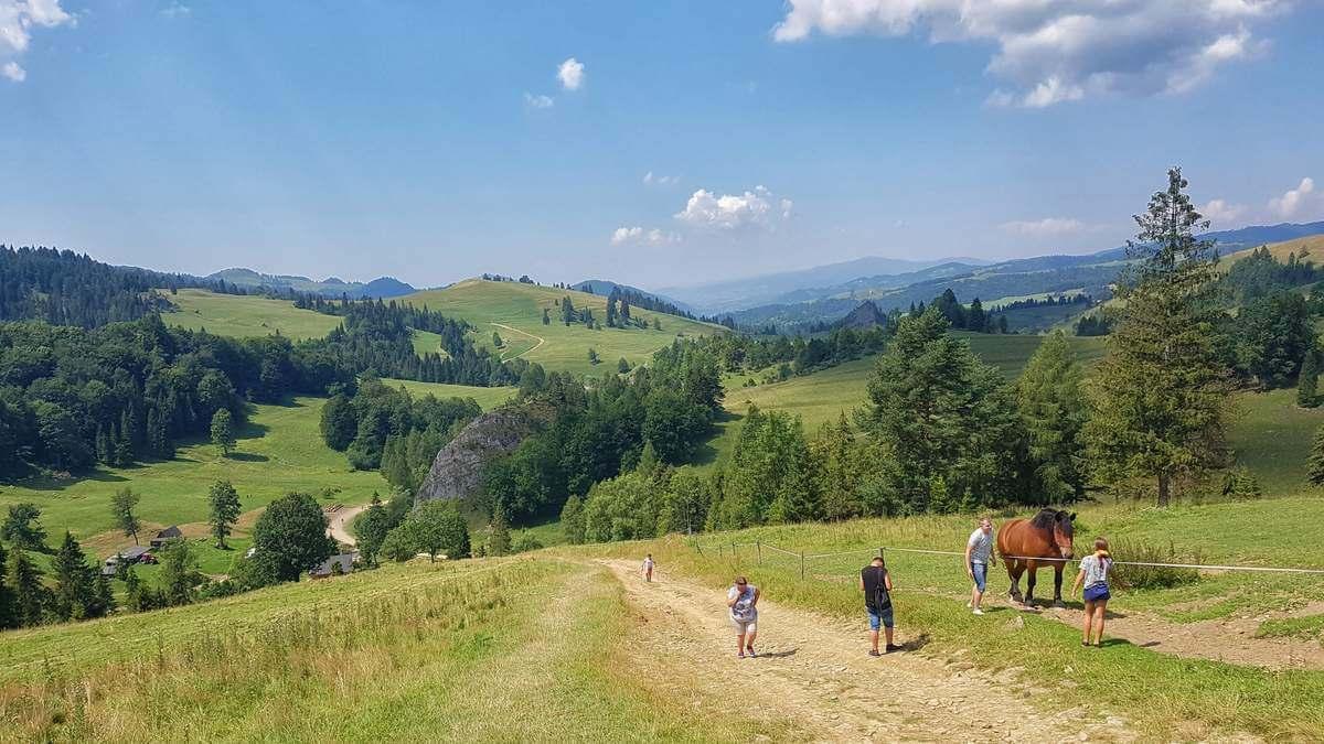 Rezerwat Biała Woda i szlak z widokiem na Tatry i Trzy Korony