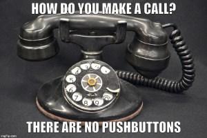 rotary phone meme